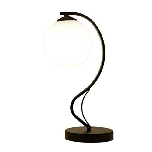 Lámpara Escritorio LED Lámpara de escritorio de hierro Lámpara de lectura europea moderna simple Dormitorio Mesita de noche Sala...