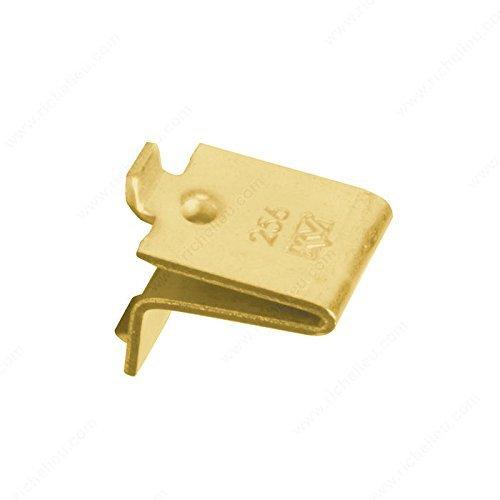 Mejor 20 Pack Zinc Rok Hardware Adjustable Steel Pilaster Shelf Support Clip crítica 2020