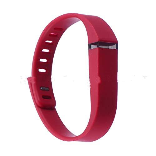 HANBIN Correa de mu?eca de Color sólido Hebilla de Metal Pulsera de reemplazo de Pulsera para Pulsera Fitbit Flex Correa de Silicona de reemplazo Red