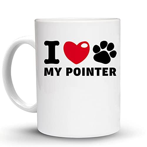 Press Fans - I LOVE MY POINTER Dog Dogs 11 Oz Ceramic Coffee Mug, y55