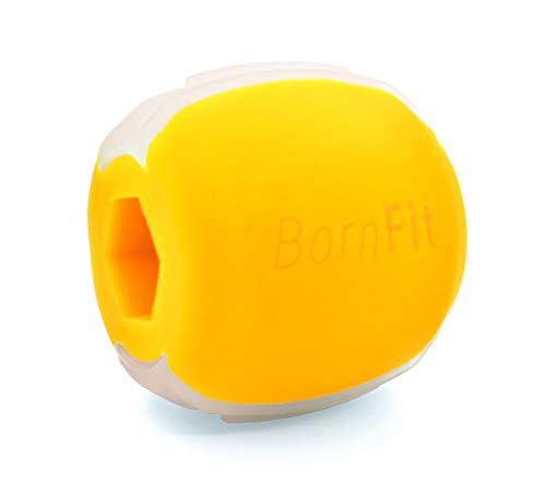 BornFit Jaw Exerciser - Jawline Exerciser For Men/Women - Jaw Shaper - Jaw Workout - Jawline Shaper - Face Exerciser - Jaw, Face And Neck Exerciser - Yellow (Expert-50 Lbs)