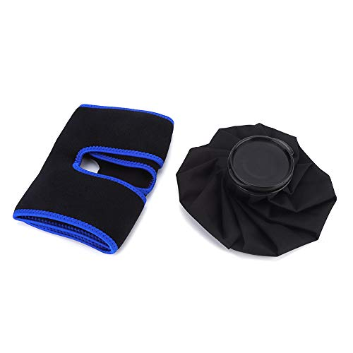 Bolsa de hielo para tobillo, material de malla, flexible, portátil, transpirable, cómoda, tobillera, para descanso en casa, habitación de oficina