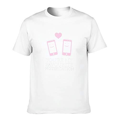 STELULI Camiseta de algodón para hombre, diseño con texto en inglés 'You're My Favorite Notification Cool Individuality
