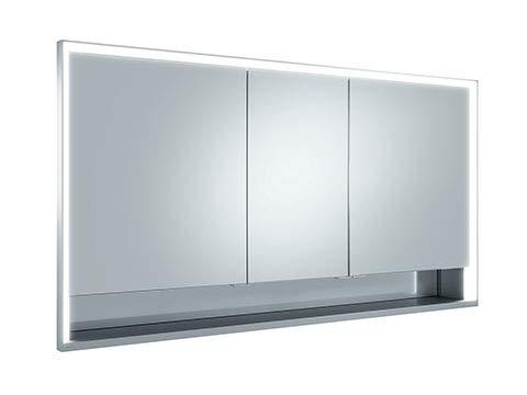 Keuco Royal Lumos Spiegelschrank 14316, 3 Drehtüren, Wandeinbau, 1400mm