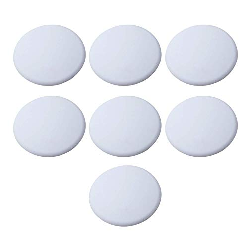 """Strongest Wall Door Handle Stopper Set. 7 Pieces of White Silicone Door Knob 1.57"""", Round Wall Shield Cushion. Wall Protector for Door Handle. Guard Door Bumper Wall Protector Rubber. Self Adhesive"""