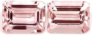 GemsNY Popular 2.95 cttw. Natural trend rank Morganite AAAA Emerald Mat Cut Quality