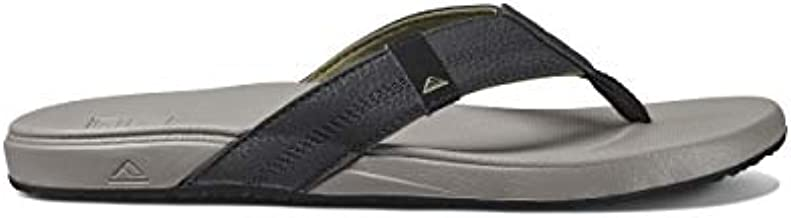Reef Men's Sandals Cushion Bounce Phantom | Flip Flops for Men with Cushion Bounce Footbed | Light Grey | Size 11
