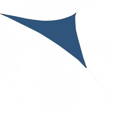Easywind - Voile d'ombrage 360x360x360cm - Levant - Forme Triangulaire, Coloris Bleu, Tissu Extensible