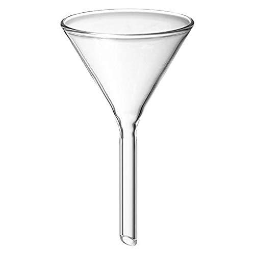 Lovemay Embudos de cocina transparente de laboratorio de vidrio para transferencia de aceite líquido seco mermelada y frijoles (60 cm de diámetro)