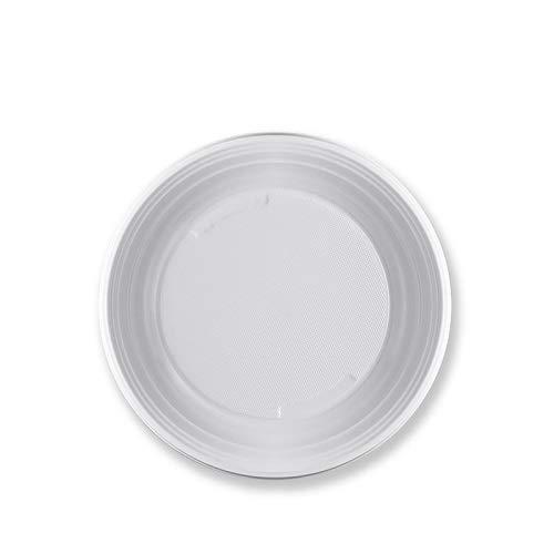 Virsus 105 piatti plastica rigida fondi 3 cf x 35 pezzi bianchi articoli per feste stoviglie Diam 21 cm