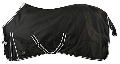 PFIFF 101898 Pferde Regen Decke Paxson, Weidedecke Pferdedecke Regendecke, Schwarz 155 cm