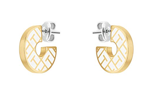 Tommy Hilfiger Women's Jewelry Stainless Steel Stud Earrings, Color: Gold Plated (Model: 2780485)