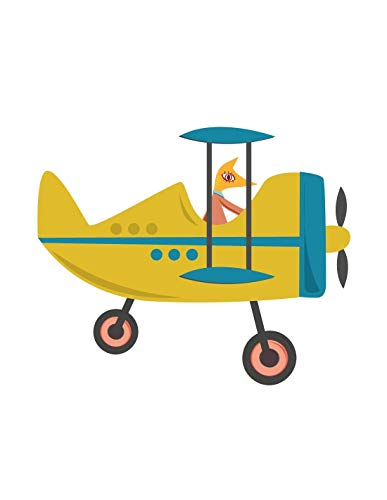 Sticker enfant: Avion jaune - Format : 100 x 93 cm