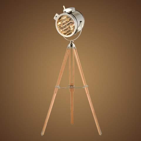 BJLWTQ Europeo Suave de la Vendimia del Viento Industrial Estudio Reflector Etapa Creativa del Acero Inoxidable de la antigüedad Altura Ajustable del trípode de la lámpara