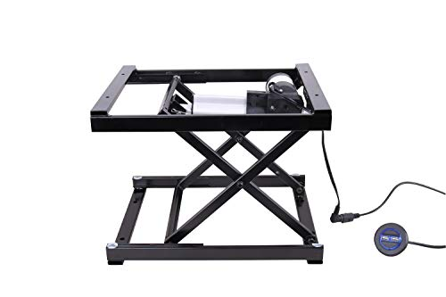 17'' Electric Hydraulic Manual Control Dining Table Coffee Table Lift,Black,110V-240V,Working Platform Computer Desk Electronic Scissor Lift