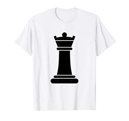 Schachfigur Gruppe Kostüm Shirt–King schwarz