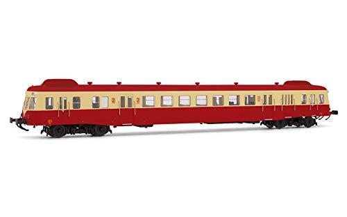 Jouef HJ2361 SNCF, diesel railcar klasse X 2400 met rook deflectoren in beige/rode lever, X 2474, Depot Limoges, periode IV Locomotief