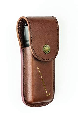 TUFF LUV Echt Leder Hülle Tasche Für Leatherman Heritage Supertool/Surge/Signal LPH500 - Large - Brown