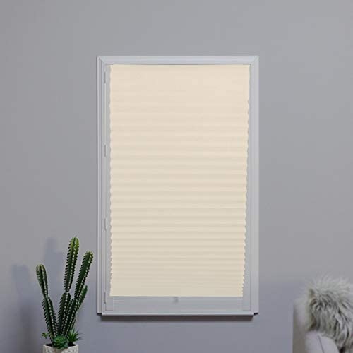 Cordless Pleated Ivory safety shopping Fabric Blinds Light x 72