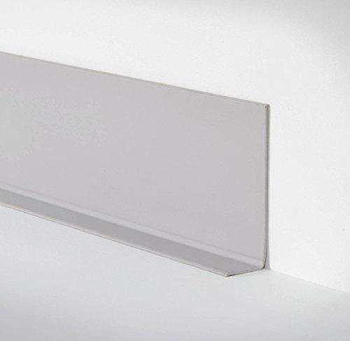 Unbekannt Döllken Selbstklebende Weichsockelleiste WLK 50 als Rolle mit 50m - 138 hellgrau - phthalatfreie Abschlussleiste mit klebender Rückseite Wandabschlussprofil