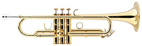 Lechgold TR-18LW Bb-Trompete Lightweight lackiert - Klarlackierte Trompete in Bb - Aus Messing - Schallbecher-Ø: 124 mm - Edelstahl-Ventile - ML-Bohrung: 11,68 mm - Inkl. Leichtkoffer