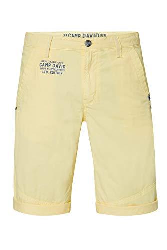 Camp David Herren Chino Shorts mit Back Print