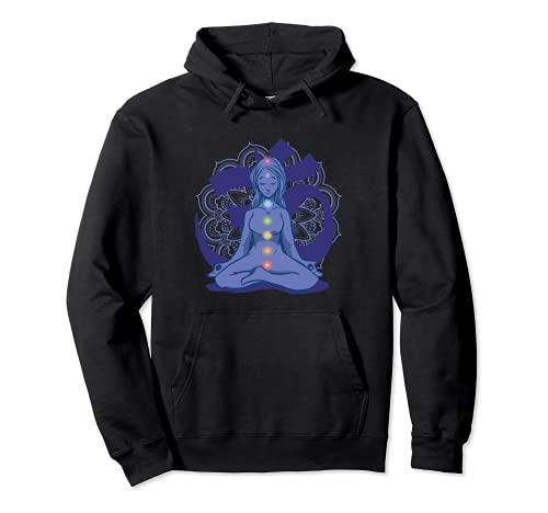 Yoga Meditación Zen-Yoga Mandala Reiki Cadena de chakras Sudadera con Capucha