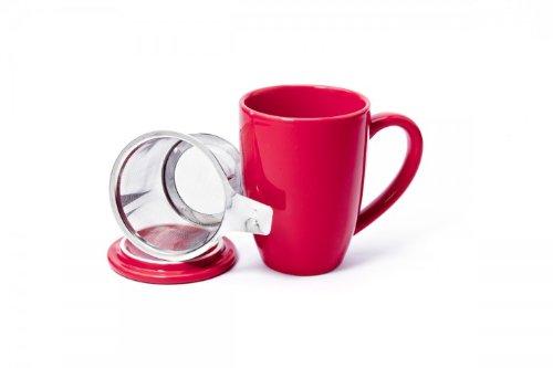 Shamila Becher Love mit Sieb und Deckel - Teebecher - Tee - Teetasse - Tasse
