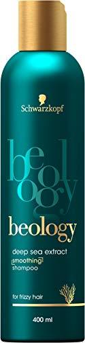 Schwarzkopf beology Geschmeidigkeits-Shampoo, für widerspenstiges Haar, mit Tiefsee-Extrakt, 3er Pack (3 x 400 ml)