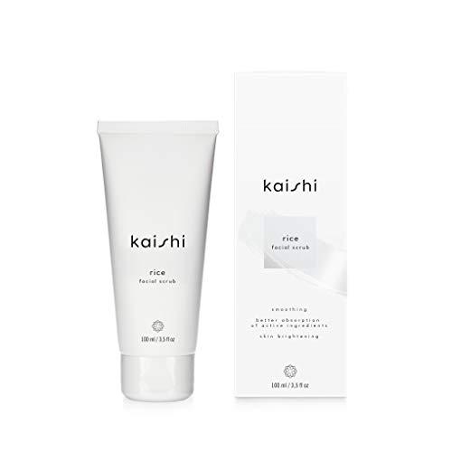 Kaishi - Exfoliante facial de arroz Rice para eliminar la piel muerta y unificar el tono, 100 ml