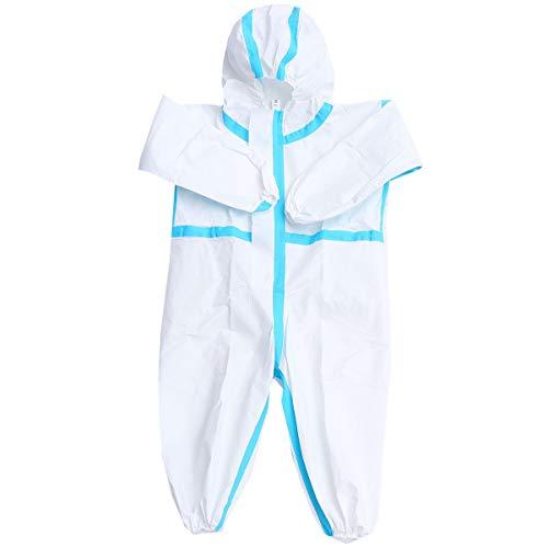 Artibetter Combinaison de Protection Jetable Combinaison Globale Robes D'isolement Médical Vêtements de Sécurité Jetables pour Enfants 120-150 Cm