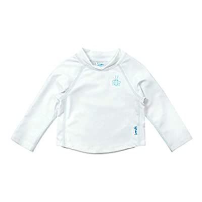 i play. by green sprouts unisex-baby Long Sleeve Rashguard | All-day UPF 50+ sun protection—wet or dry,White,18 mo