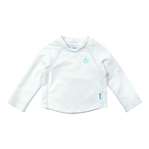 i play. by green sprouts Kids' Long Sleeve Rashguard, White,...