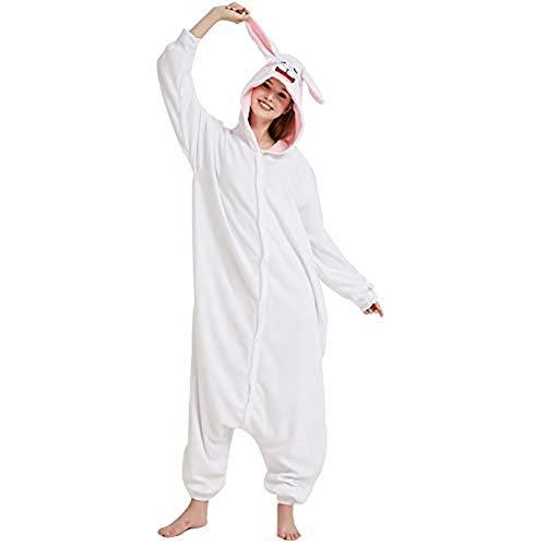 Ducomi Kigurumi Pigiami Costumi Divertenti - Pigiama Unisex Adulto Cosplay Costume Animale - Peluche Halloween e Carnevale Donna Uomo - Pigiamone Tuta Unicorno, Koala, Panda (Orso Bruno, L)