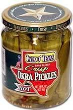 Talk O' Texas Crisp HOT Okra Pickles - 16 oz Glass Jar