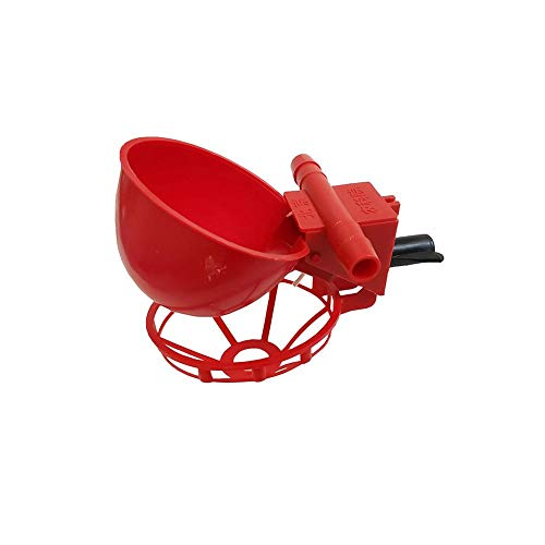 ZZWEJ 1 Unids Vasos para Beber Agua de Aves Gallinero Gallinero Bebedero de Gallinas Gallina Pollo Bebedero de Plástico Tazón Comederos para Animales Automático