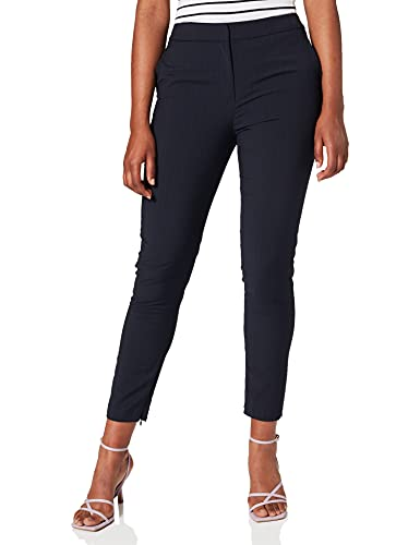 SELECTED FEMME Damen SLFMUSI Cropped MW Pant SAP PIN B Hose, Blau (Dark Sapphire Dark Sapphire), W30(Herstellergröße: 40)