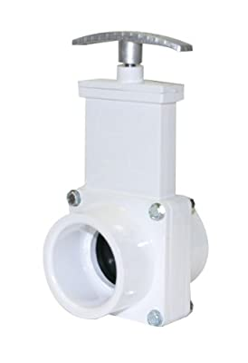 """Valterra 6101M PVC Gate Valve, White, 1-1/2"""" Slip, with Metal Handle by Valterra Products"""