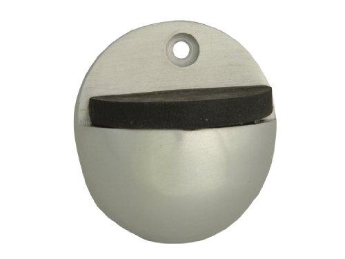 Butoir de porte ovale en aluminium forge 50 mm (Lot de 2)