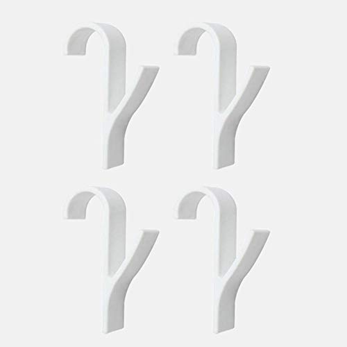 Tineo Hanger Voor Verwarmde Handdoek Radiator Rail Kleerhanger Badhaak Houder Plegable Sjaal Hanger Wit 6st, 4st