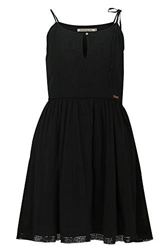 khujo Damen LOBELIE Kleid, Schwarz (Black 200), X-Large