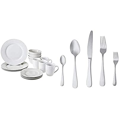 16 Or 18 Piece Dinnerware Set By AmazonBasics