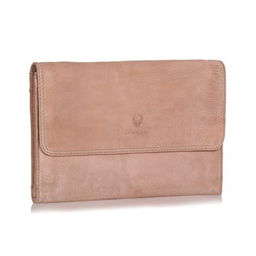 DONBOLSO® Handtasche Mailand I Clutch aus Nappa-Leder I kleine Abendtasche I Damentasche mit abnehmbarem Schultergurt und Handschlaufe I Creme