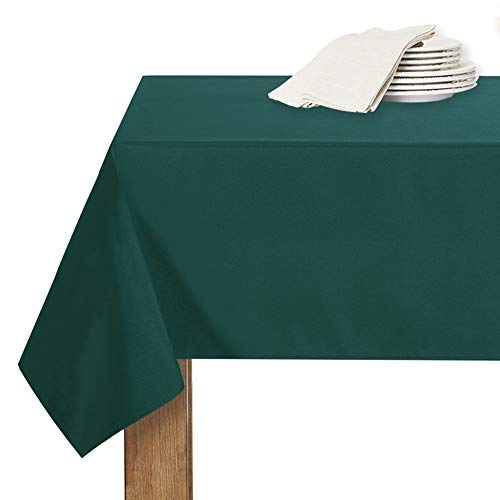 RYB HOME Abwaschbare Tischdekce Weihnachten Dunkelgrün - Tragbare Tischdecke für Party/Picknick Tischtuch Abwischbar Tischwäsche, Eckig, 1 Stück H 213 x B 150 cm