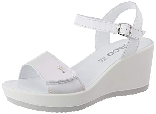 Igi&Co Damen Sandalo Donna Dsc 51794 Plateau Sandalen, Weiß (Ghiaccio 5179411), 37 EU