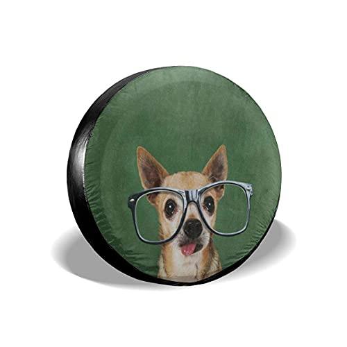 Leagard Cubierta de neumático Hipster Dog impermeable universal de repuesto para neumáticos a prueba de polvo, protectores de rueda para remolque, RV, SUV, accesorios de camper y muchos vehículos