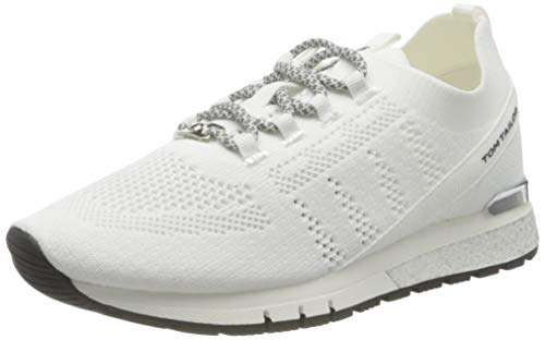 TOM TAILOR Damen 1191101 Sneaker, White, 38 EU