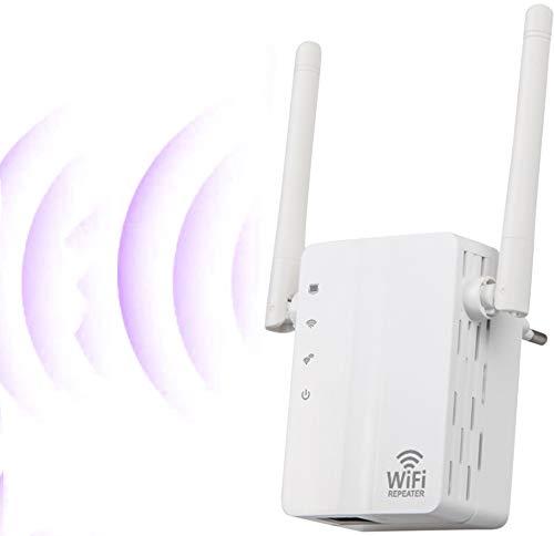 SOOTEWAY Repetidor WiFi, Amplificador WiFi de 2,4 GHz / 300 Mbps, Amplificador de señal WiFi con Amplia Cobertura, Extensor WiFi con Botón WPS, Modo 3 en 1 (Repetidor/Enrutador/Ap), Puerto Ethernet