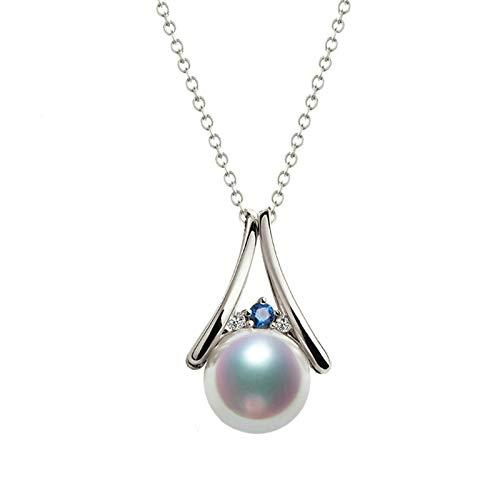 AmDxD oro blanco 18 quilates (750) round-shape White Blue Pearl