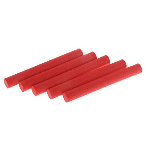B Blesiya 5X Alineador Zig Cebo Espuma Carpa Pesca Aparejos Rojo Sticks Hook Line Atrapar Gran Pescados - Rojo